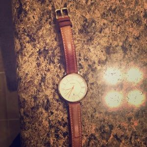 Fossil Jacqueline Tan leather watch
